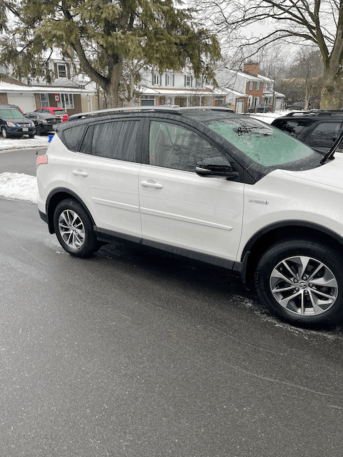Rav4 Hybrid Top/Mirrors Gloss Black